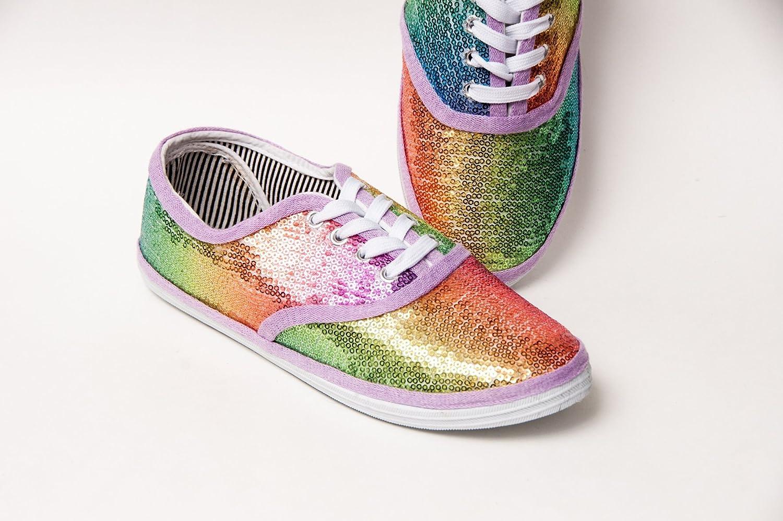 sequin canvas shoes