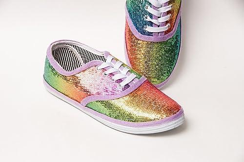 Amazon.com: Women's Rainbow Colored