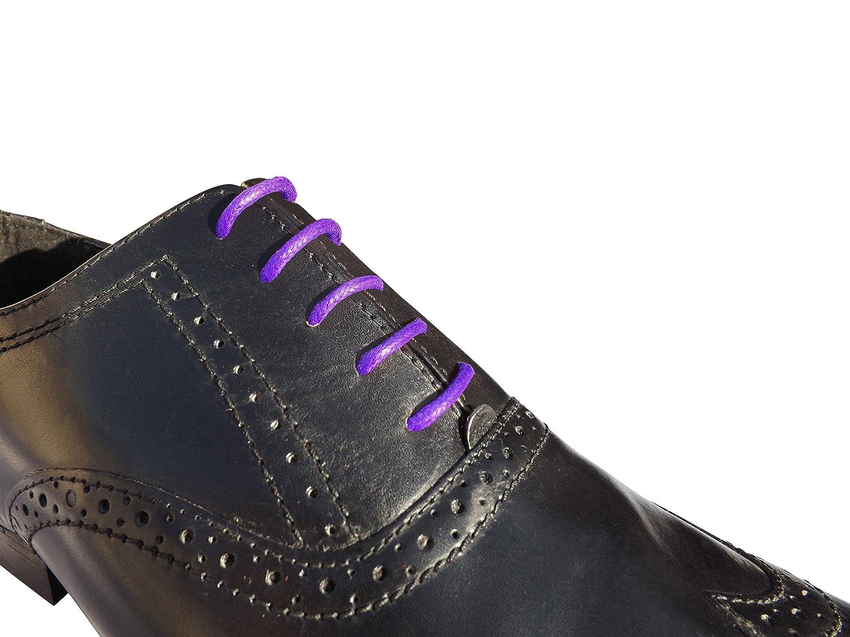 Purple Wax Shoelaces 95cm Long 2.5mm Wide For mens shoes: Amazon.co.uk:  Shoes & Bags