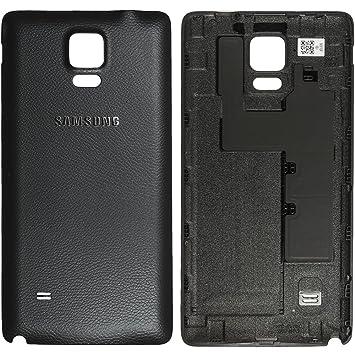 Samsung Original - Tapa de Batería Color Negro para Samsung N910F Galaxy Note 4 (Carcasa de Batería, Tapa de Batería, Trasera, Tapa Trasera) - ...