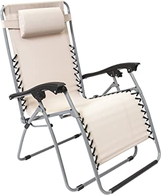 MAC S P O R T S  XL Multi-Position Zero-Gravity Chair — Beige