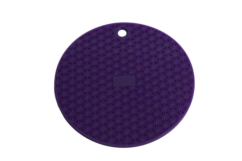 MIU France Round Silicone Trivet, Purple 99065