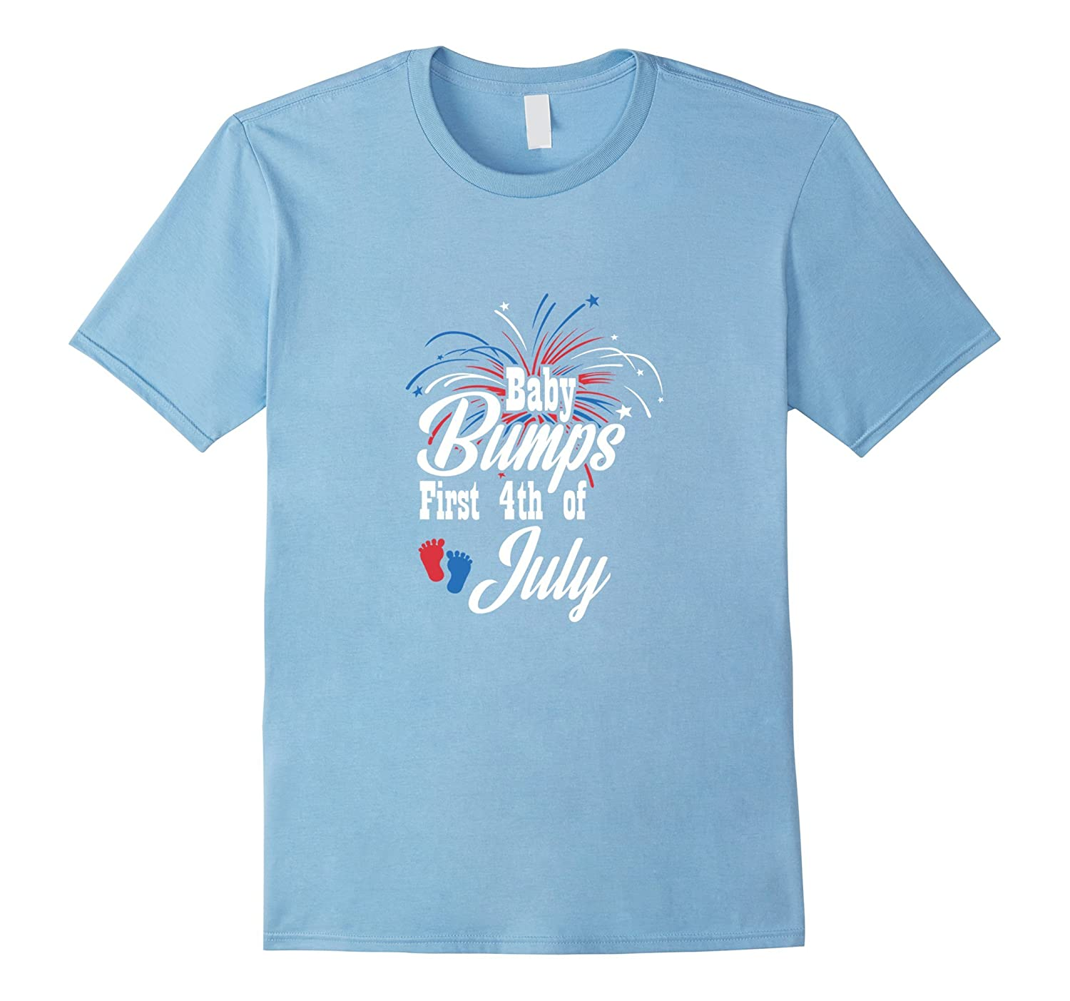 Baby Bumps First 4th Of July Funny Baby Shower T Shirt Gifts