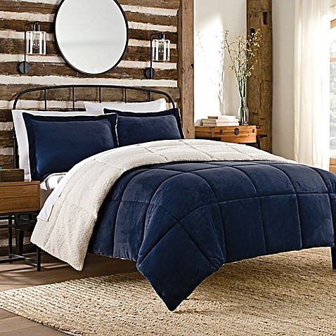 SoSoft™ Plush Reversible Comforter Set - www.BedBathandBeyond.com