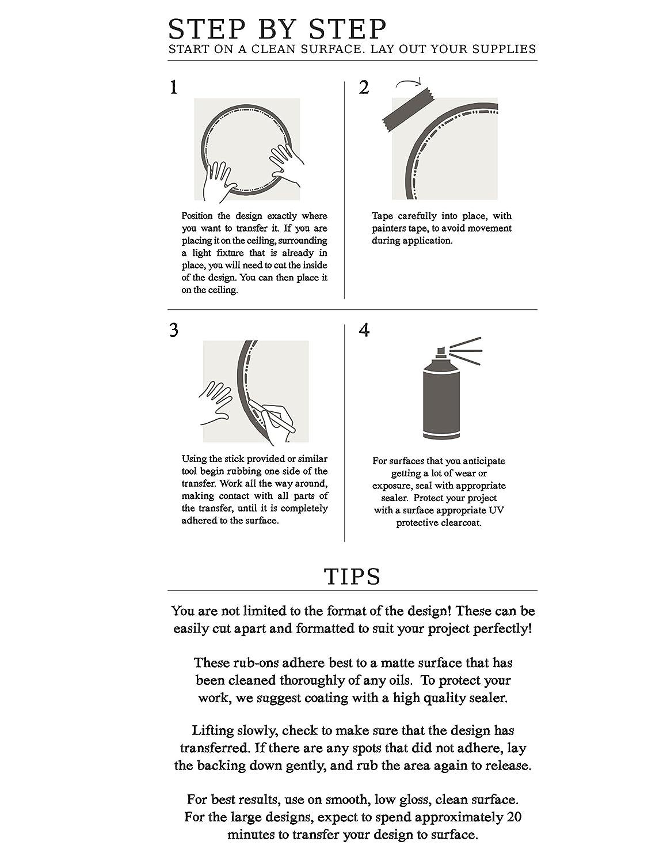 Mehrfarbig Unbekannt Prima Marketing 814427/Iron Orchid Designs Decor Transfer rub-ons