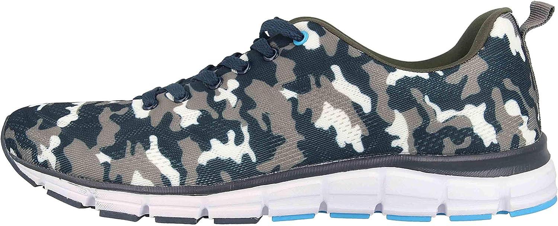 Boras Fashion Sports 5202-1561 - Zapatillas Deportivas Unisex (Tallas Grandes), Color marrón y Azul Marino: Amazon.es: Zapatos y complementos