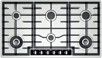 Neff T29S96 N1 Built-in Gas Stainless Steel Hob: Amazon.co.uk ...