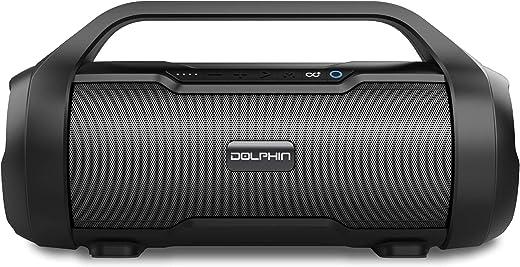 Portable Bluetooth Waterproof Tube Speaker 30W, Includes FM Radio, USB/SD MP3, AUX Input