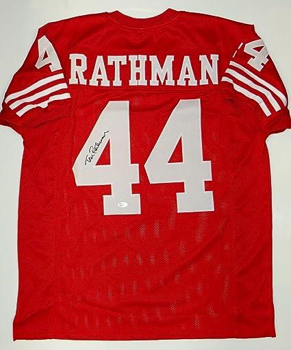 Signed Tom Rathman Jersey - Red Pro Style W - JSA Certified ... 474a20901