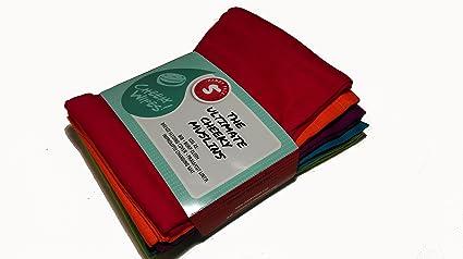 Del arco iris de algodón de - divertido de tubo de toallitas de limpieza muselinas paquete