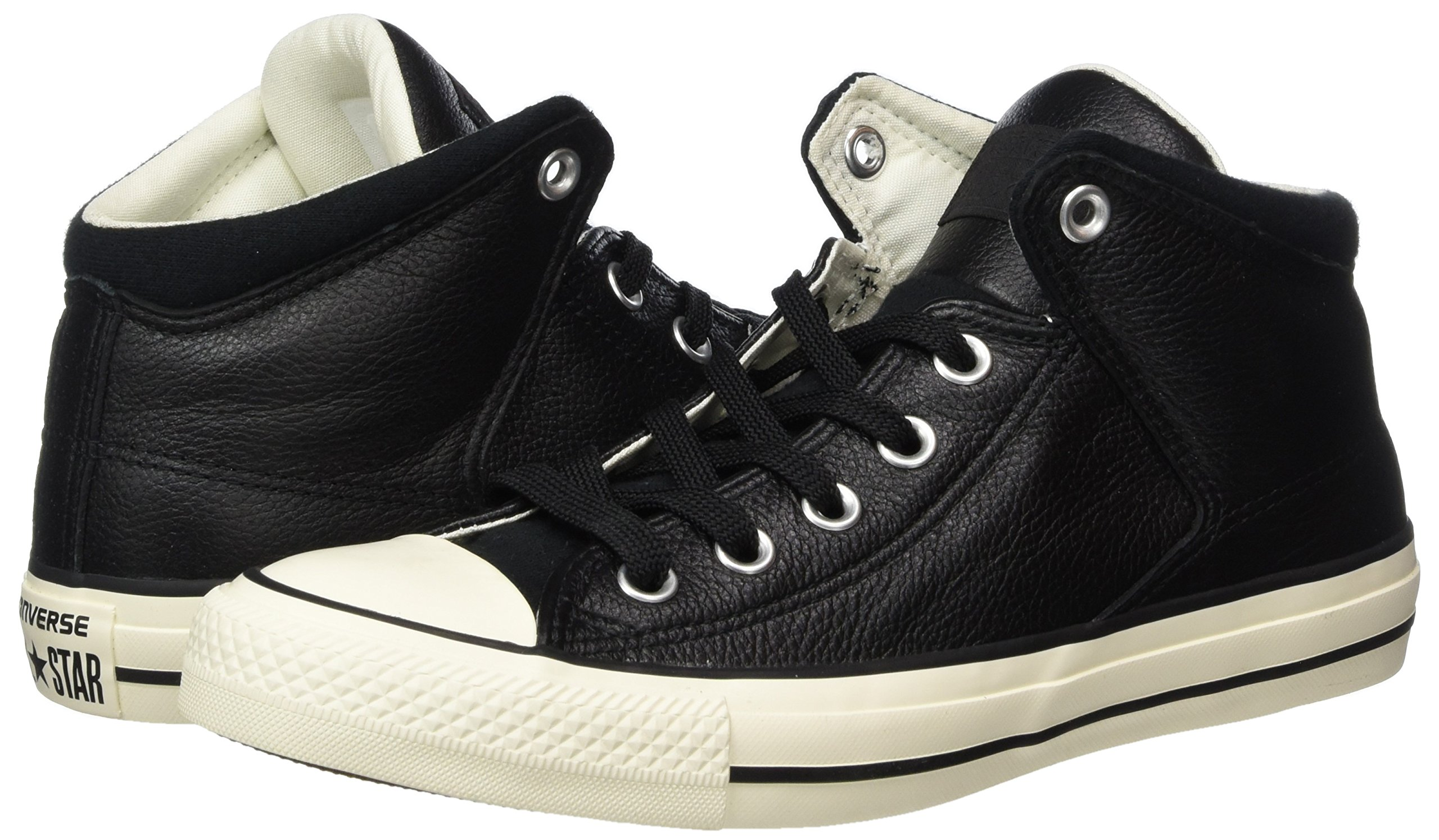 Converse Unisex Chuck Taylor All Star High Street Kurim Mid Sneaker Leather Black 10.5 D(M) US by Converse (Image #5)
