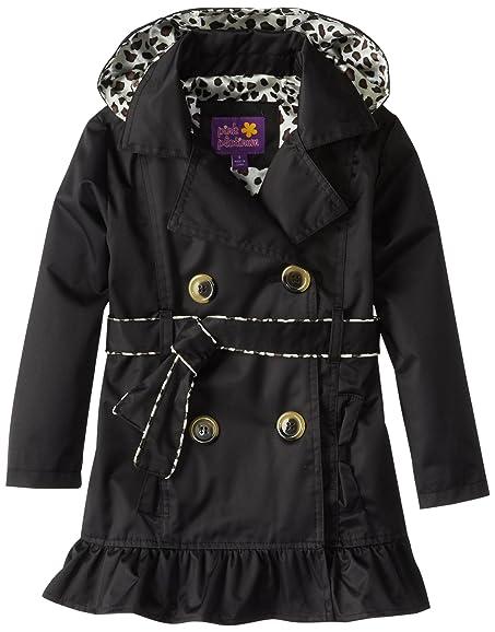 Amazon.com: Pink Platinum Little Girls' Double Leopard Trench Rain ...