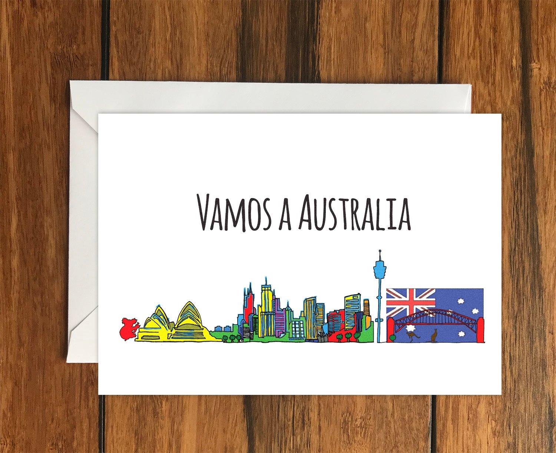 Vamos a Australia, tarjeta de felicitació n A6 tarjeta de felicitación A6