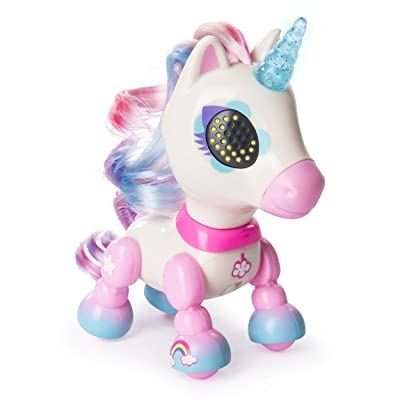 Zoomer - Zupps Tiny Unicorns, Dream, Interactive Unicorn with Light-up Horn, for Ages 4 and Up: Toys & Games
