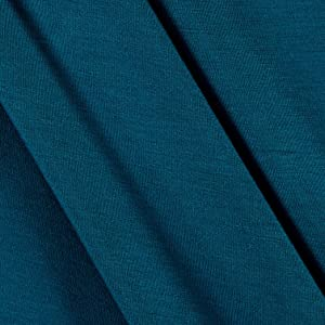 TELIO Rayon Jersey Knit Deep Teal Fabric by The Yard