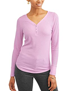 0caa5f0b Time and Tru Women's Long Sleeve Thermal Henley at Amazon Women's ...
