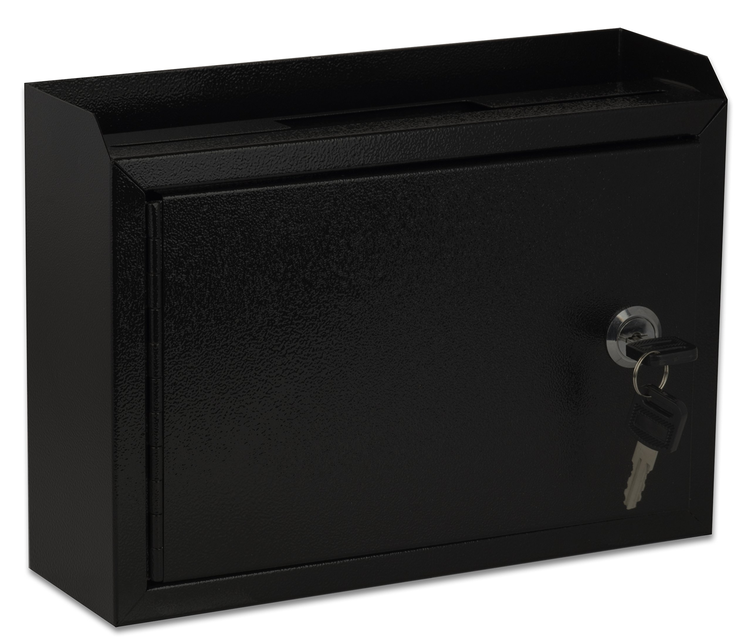 AdirOffice Multi Purpose Wall Mountable Suggestion Box, 9.75'' x 7'' x 3'' - Black