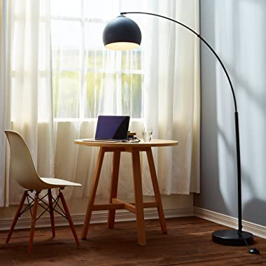 Versanora VN-L00013 Arquer 66.93  Modern Arc Floor Lamp, Black