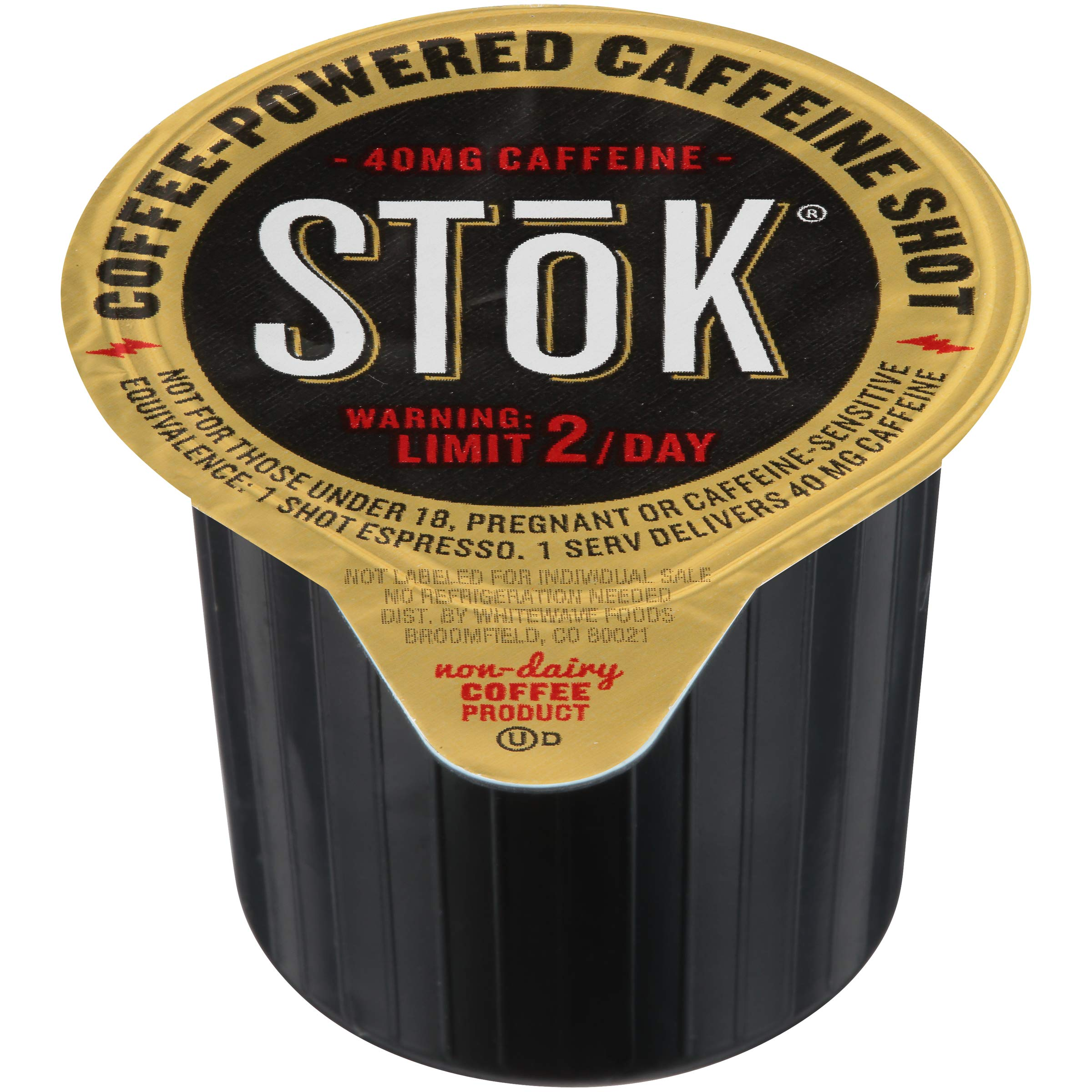 SToK Caffeinated Black Coffee Shots, 264 Single-Serving Shots, Single-Serve Shot of Unsweetened Coffee, Add to Coffee for Extra Caffeine, 40mg Caffeine (Packaging May vary) by SToK