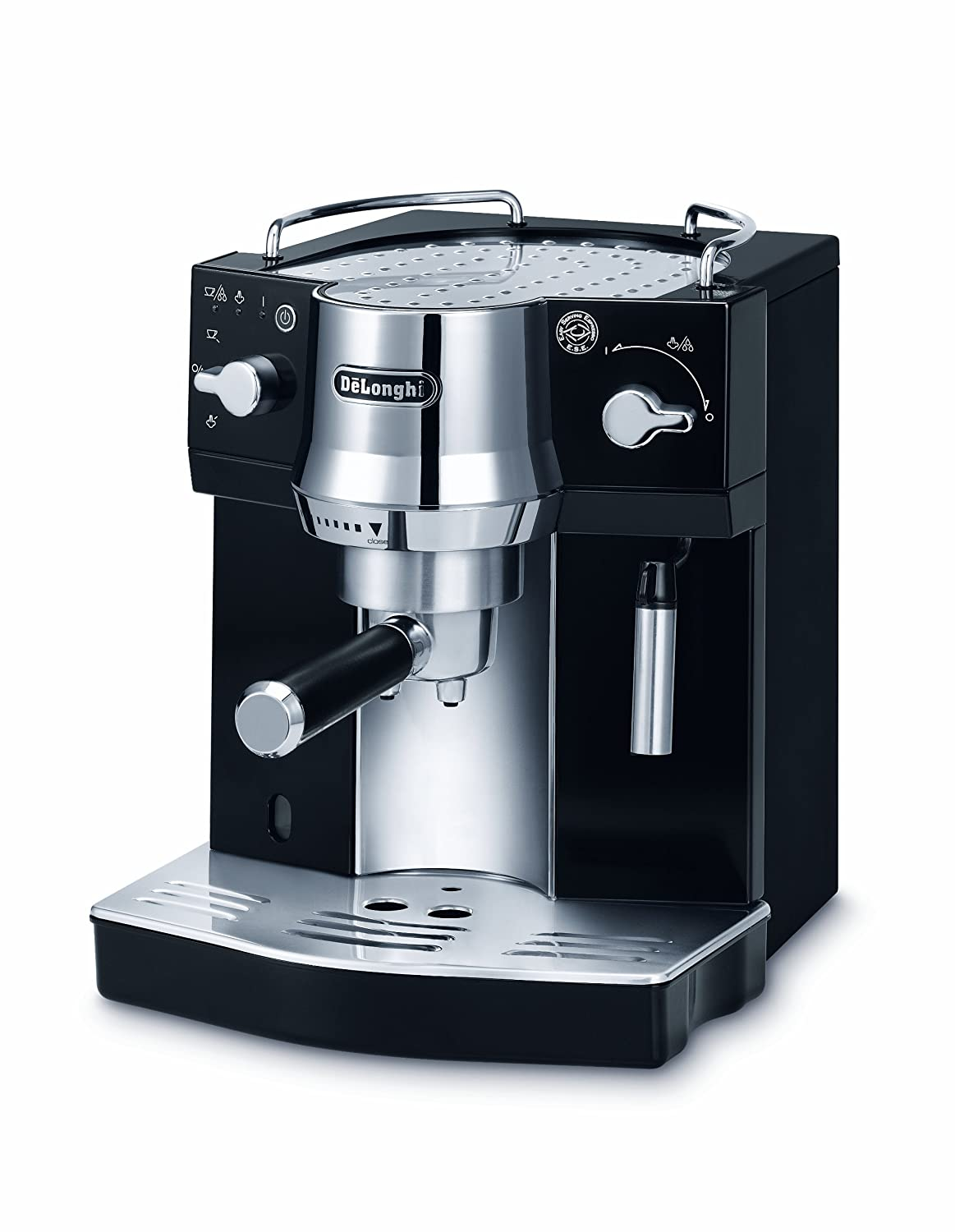 de 39 longhi pump espresso coffee machine ec820 b black ebay. Black Bedroom Furniture Sets. Home Design Ideas
