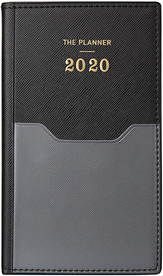 2020 Pocket Planner/Calendar - Weekly & Monthly Pocket Planner with 12 Month Tabs, Agenda Planner and Schedule Organizer with Pen Hold, Bonus Notes ...