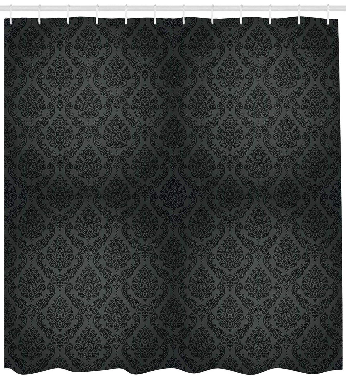 ABAKUHAUS Colorato Tenda da Doccia Grigio Antracite A Guscio DUovo Colorı Definiti su Tessuto 175 x 180 cm Hearts Sailor Holiday