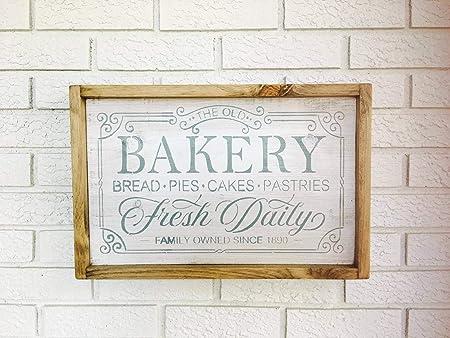 CELYCASY decoración de panadería, Letrero para Horno, Cartel ...