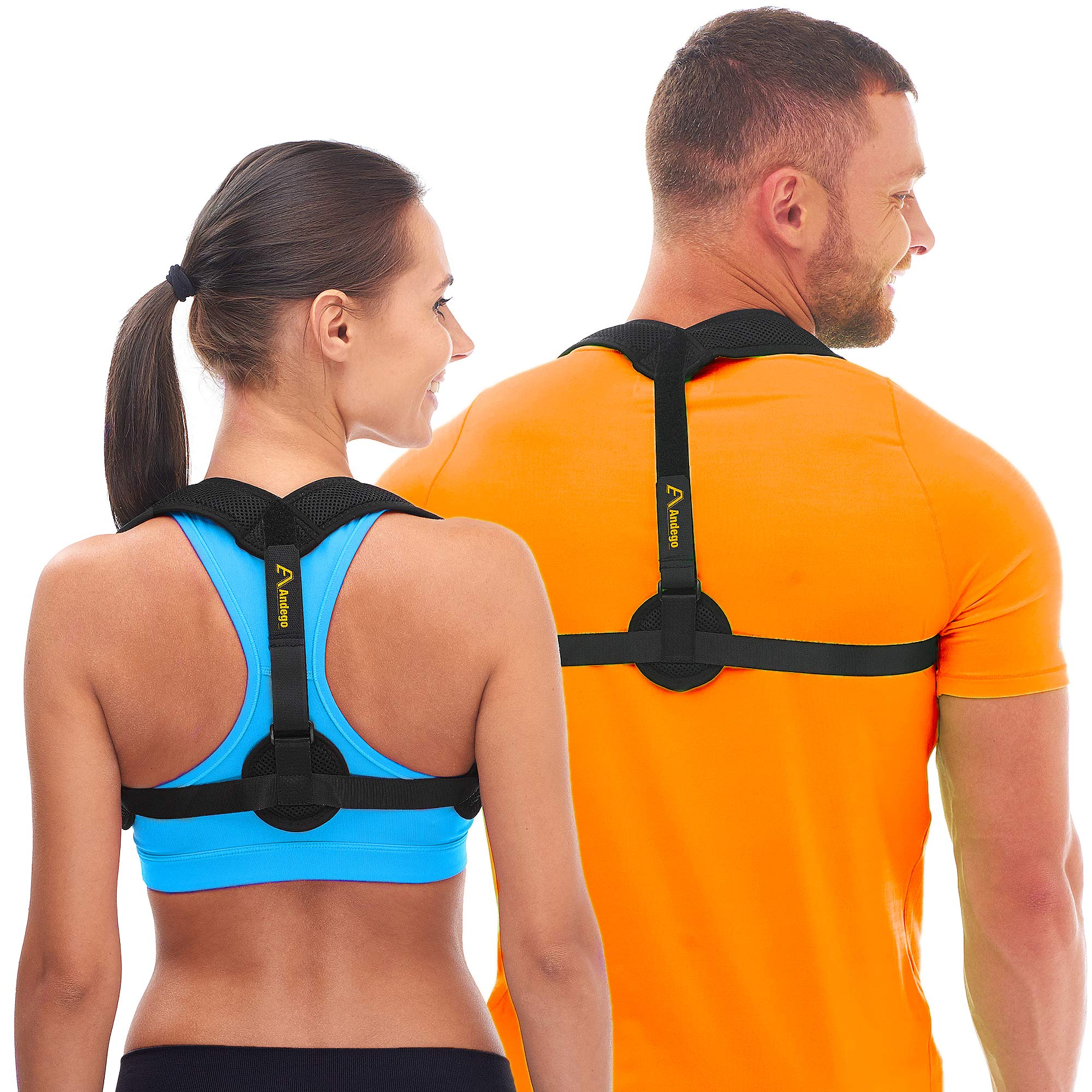 Andego Back Posture Corrector for Women & Men - Effective and Comfortable Posture Brace for Slouching