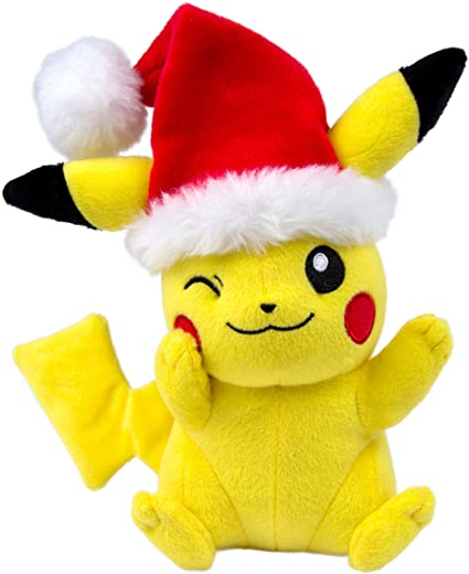 New Pokemon Christmas Santa Pikachu Plush Toy Soft Stuffed Doll 11/'/' Teddy Gifts