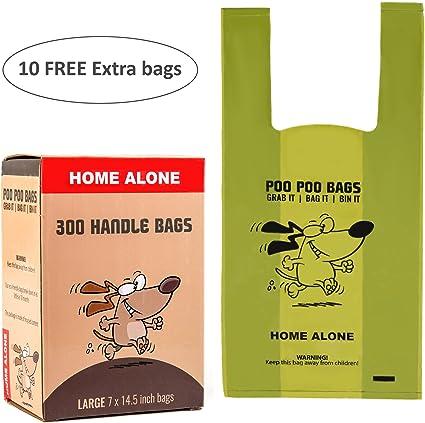 Bolsas de caca biodegradables para perro con asas de fácil cierre ...