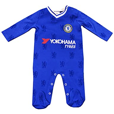 b9a8be6ae Official Chelsea FC Baby Kit Sleepsuit Babygrow - 2016 17 Season ...