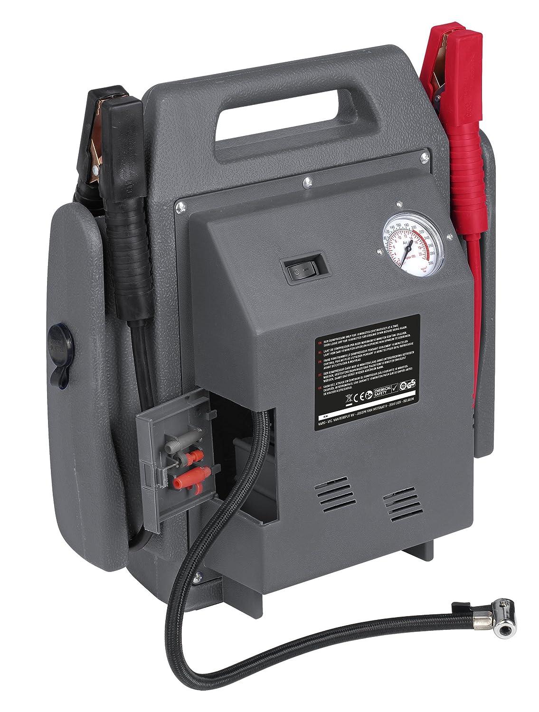 Powerplus, POWE80090 - Kit arrancador de coche y cargador de baterías portátil, 900 A, 12 V, con compresor de aire, batería y linterna: Amazon.es: Coche y ...