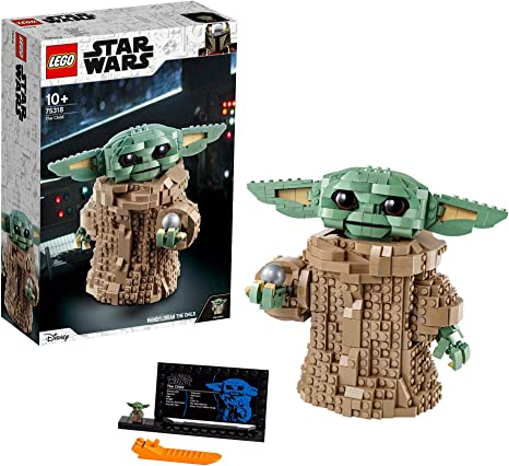 LEGO75318StarWarsElNiñoTheMandalorian,SetdeConstrucciónparaNiños+10años,FiguradeBabyYodaColeccionable