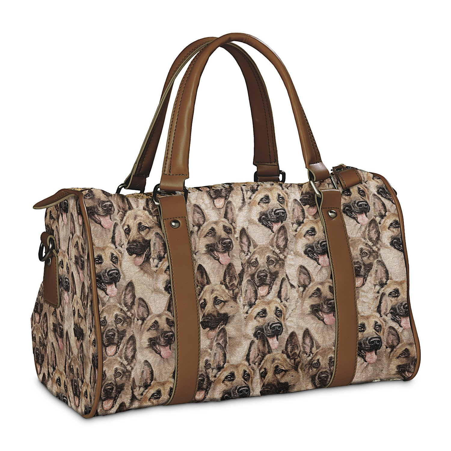 Constant Companion Dog Lovers Cotton Blend Tapestry Handbag: German Shepherd by The Bradford Exchange by Bradford Exchange (Image #1)