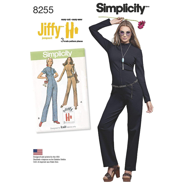 Simplicity Pattern 8255 D5(4-6-8-10-12)ヴィンテージミスミジャンプスーツ、ホワイト、22 x 15 x 1 cm   B01LXP5QFF