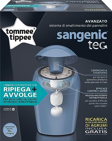 Tommee Tippee Sangenic Tec - Contenedor de pañales, color azul: Amazon.es: Bebé