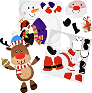 Christmas Refrigerator Magnet Appliance Decorations - Magnetic Fridge Santa Snowman Reindeer Winter Cutouts Holiday Décor for Kitchen Whiteboards Garage Door File Cabinets Metal Doors Lockers