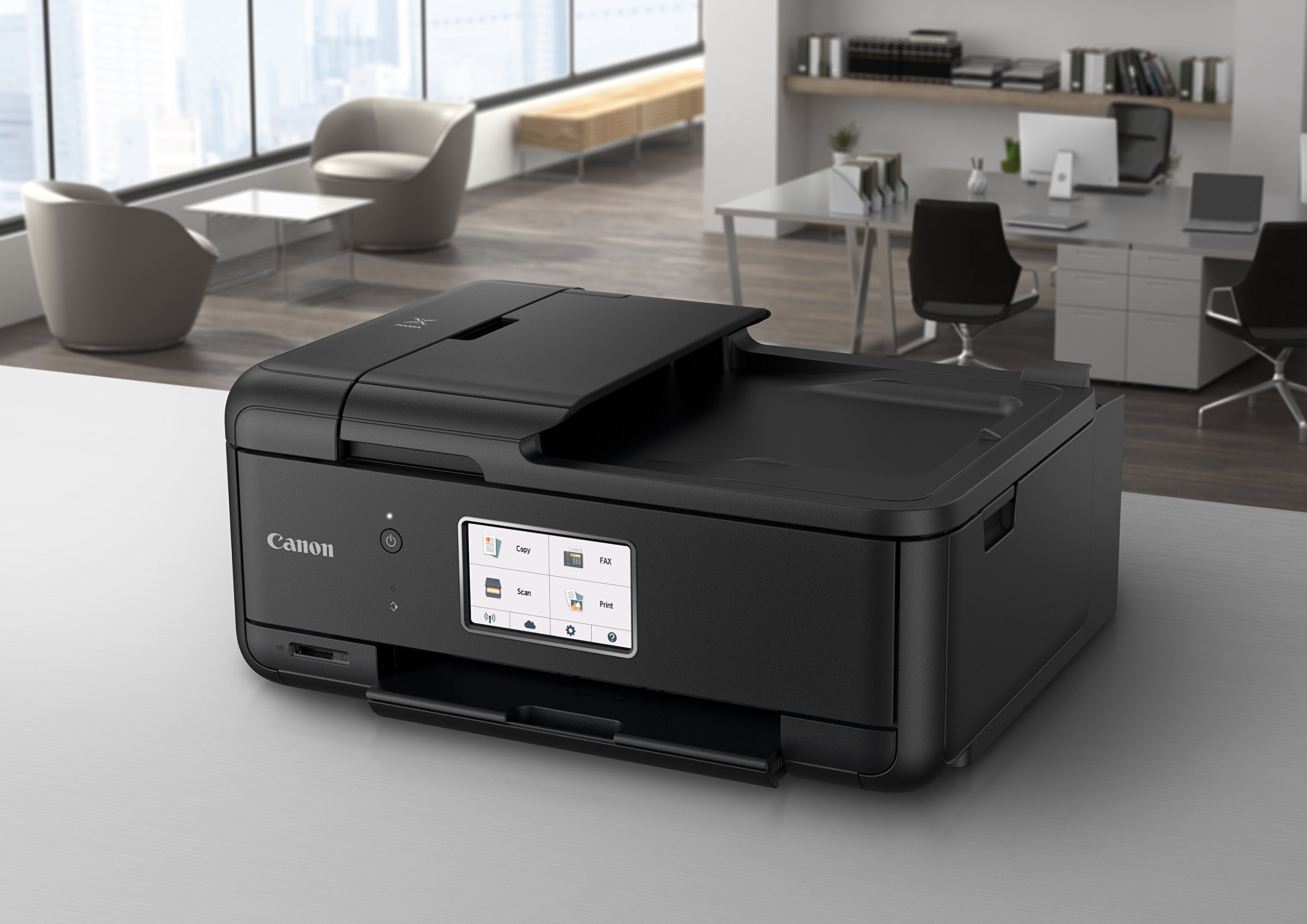 Canon PIXMA TR8520 Wireless All in One Printer | Mobile Printing | Photo and Document Printing, AirPrint(R) and Google Cloud Printing, Black by Canon (Image #4)