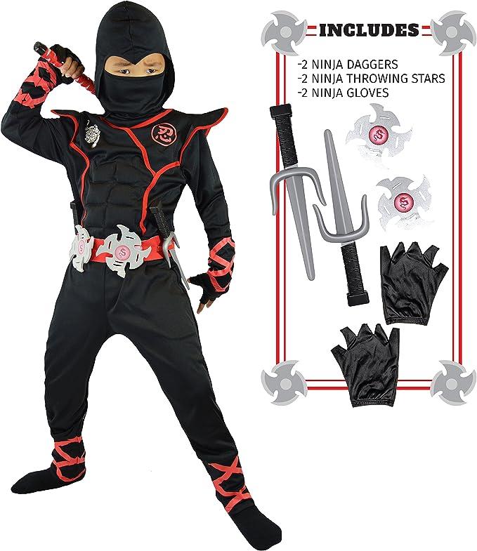 Amazon.com: Spooktacular Creations niños disfraz de ninja de ...