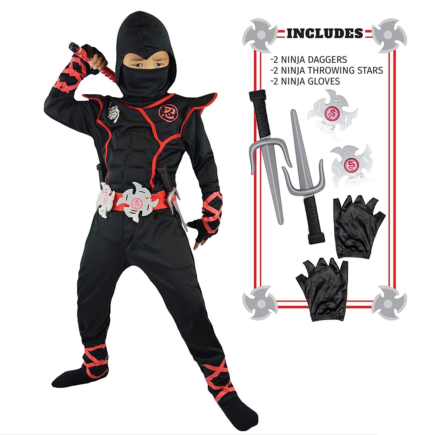Spooktacular Creations Boys Ninja Deluxe Costume for Kids