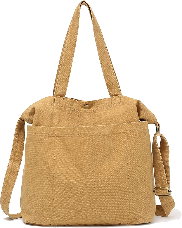 Canvas Tote Handbag Shoulder Bag Or Crossbody Bags Purses For Men And Women Shopping Tote
