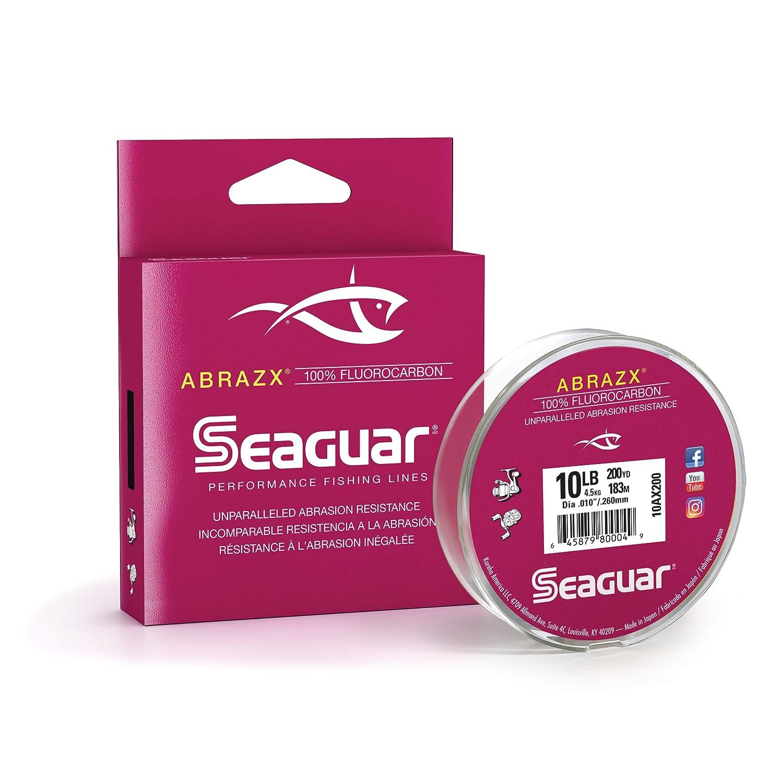 Seaguar Abrazx 100 Fluorocarbon 200 Yard Fishing Line 10-Pound