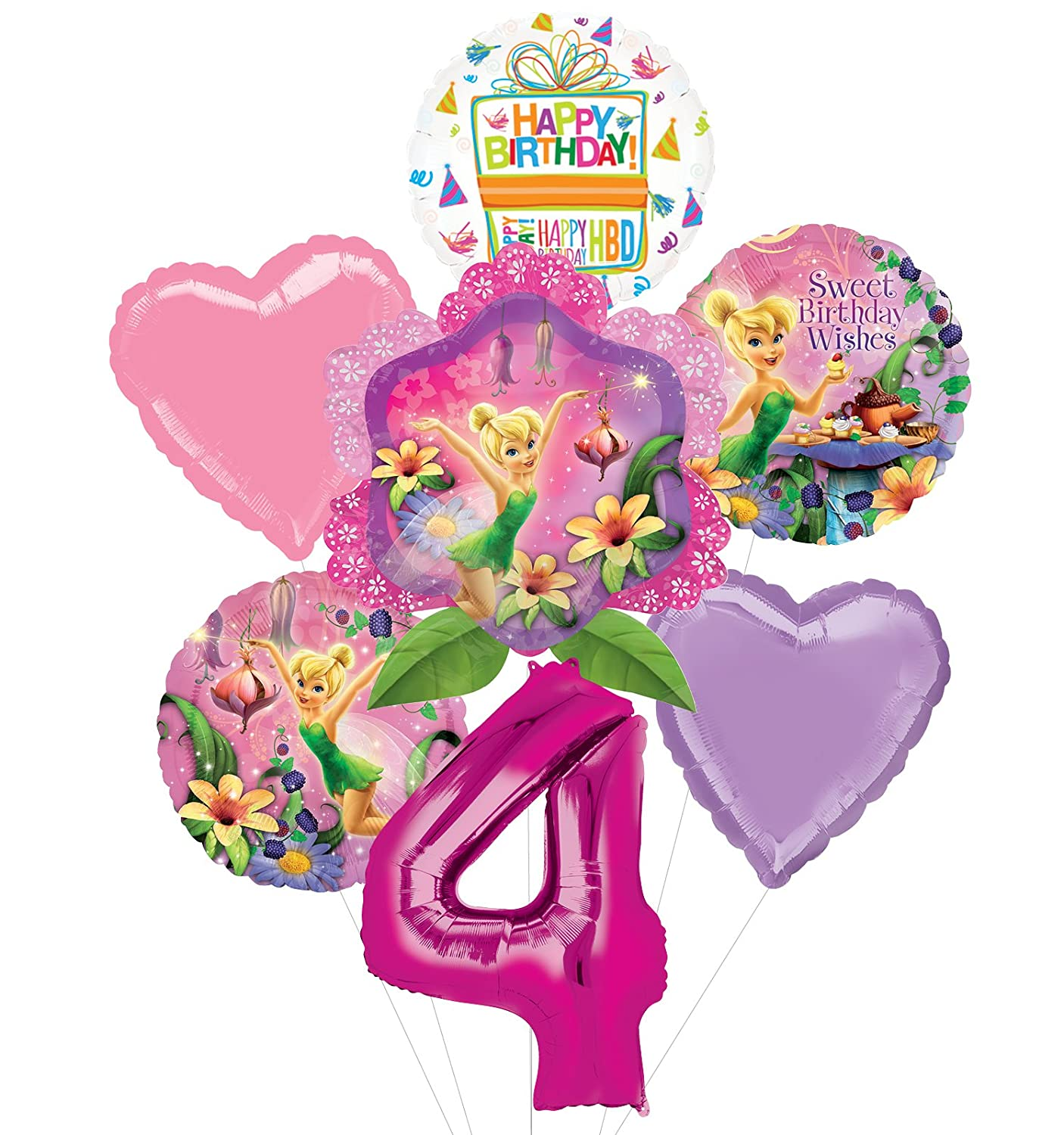 Amazon Tinkerbell 4th Birthday Party Supplies And Balloon Bouquet Decorations Toys Games