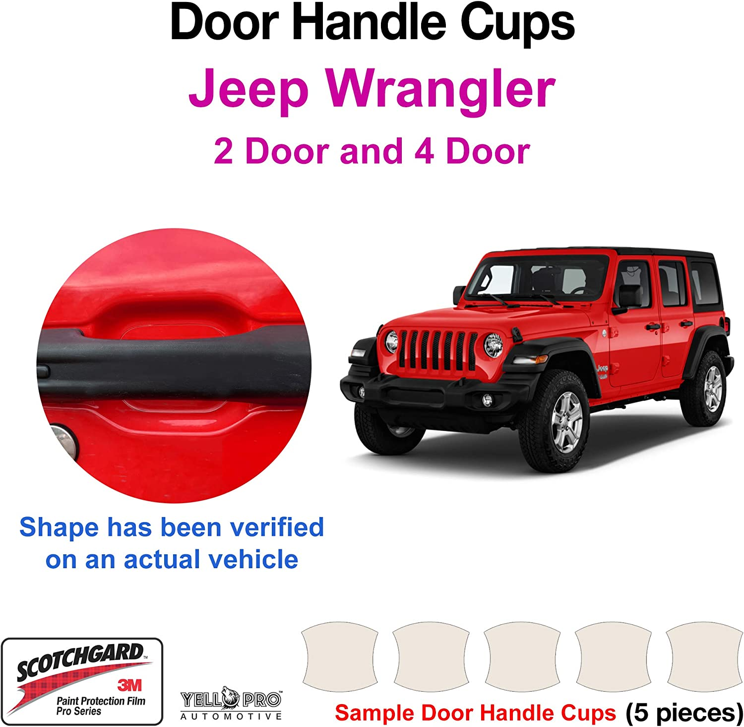 Clear Paint Door Handle Cup Protection Film for Kia Sportage SUV 2014-2018