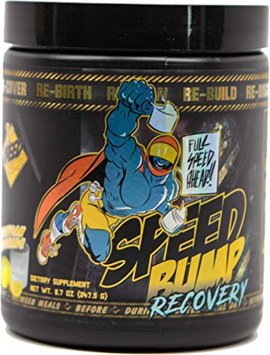 Speed Bump Energy – Recovery Formula – 30 Servings 10 1 1 Ratio BCAA, Amino Acids Essential Conditional Joint Liver Support, Post Workout All Day Drink – 8.3g Scoop Lemonade Flavor