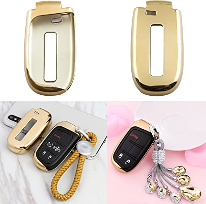 TPU Soft Remote Smart Key Fob Holder Cover Fit for Jeep Chrysler Renegade Dodge