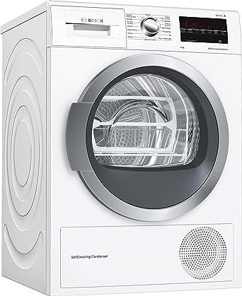 50aa37b7a6e72e Bosch WTW85478II asciugatrice Libera installazione Caricamento frontale  Bianco 8 kg A++: Amazon.it: Grandi elettrodomestici