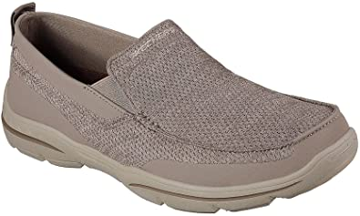 Skechers Mens Relaxed Fit: Harper - Moven Loafer, Light Brown, Size 9 Wide