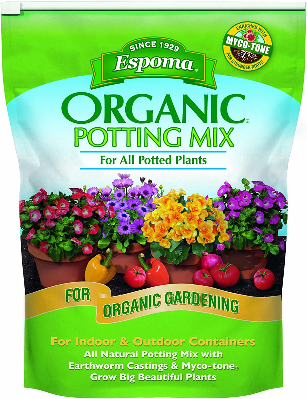 Espoma AP8 8-Quart Organic Potting Mix : Soil : Garden & Outdoor