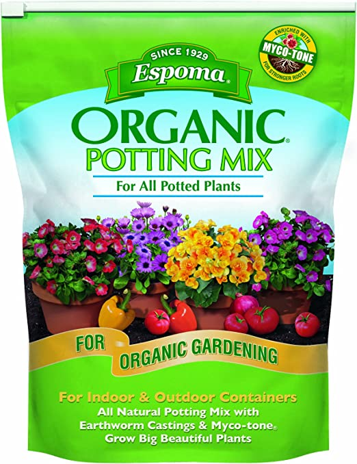 Espoma AP8 Organic Potting Mix - Water-Saving Formula